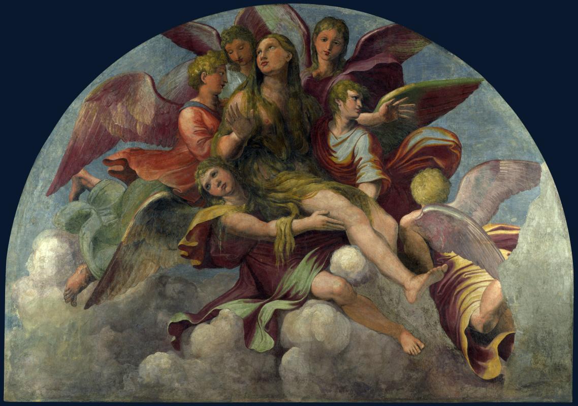 Романо и Гианфранкеско Пенни Джулио. Святую Марию Магдалину несет ангелы