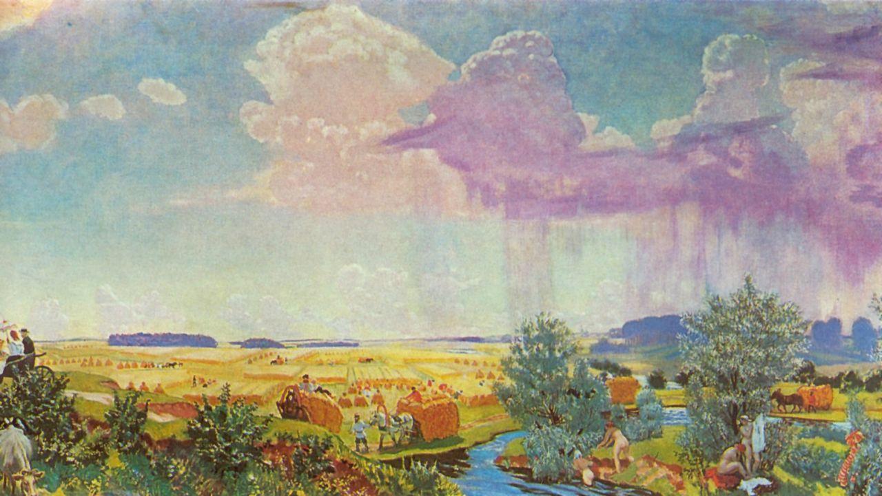 Борис Михайлович Кустодиев. Лето. Фрагмент