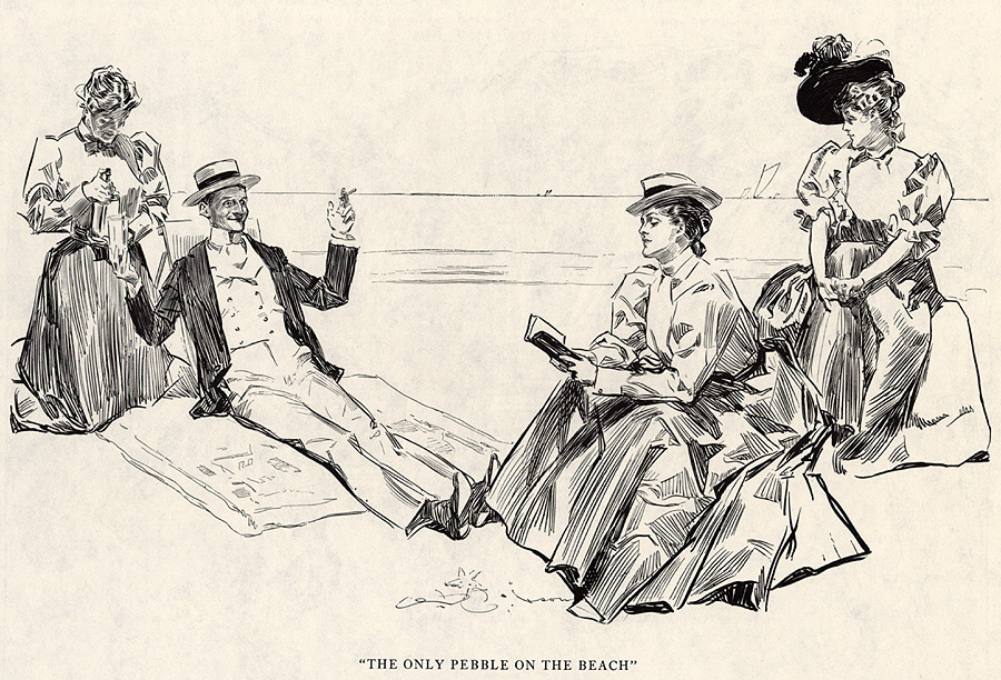 Charles Dana Gibson. The only pebble on the beach