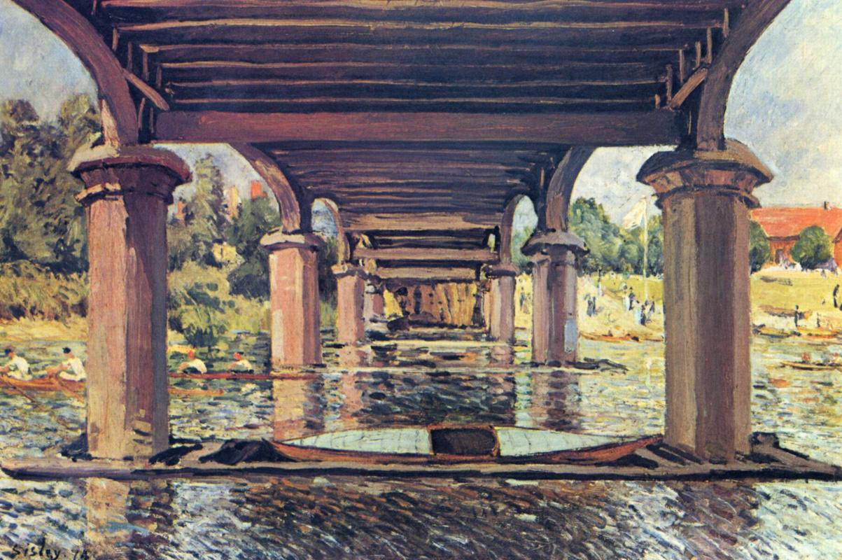 Альфред Сислей. Под мостом в Хэмптон-Корте