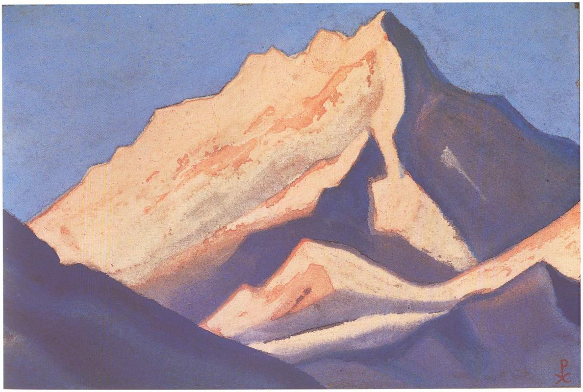 Nicholas Roerich. The Himalayas (Snow-array at sunset)