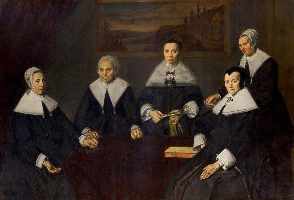 Франс Хальс. Групповой портрет регентш женского приюта для престарелых в Гарлеме