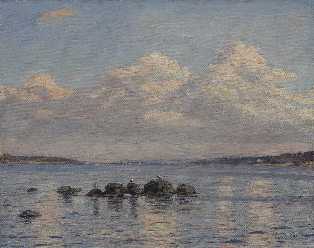 Фёдор Борисович Фёдоров. Clouds over the Gulf of Finland