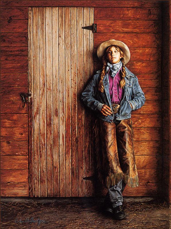 Девушка у двери