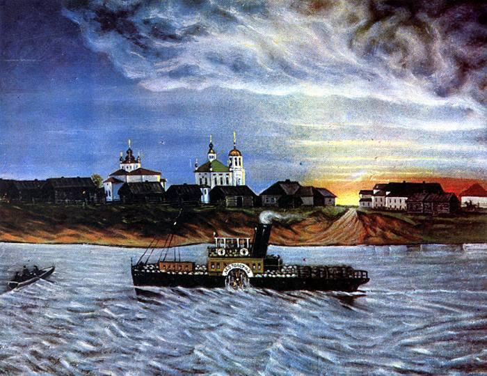 Konstantin Ivanovich Tretyakov. Terrible clouds over Blagoveshchensk