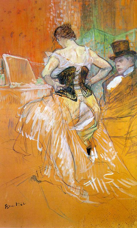 Henri de Toulouse-Lautrec. Woman in corset