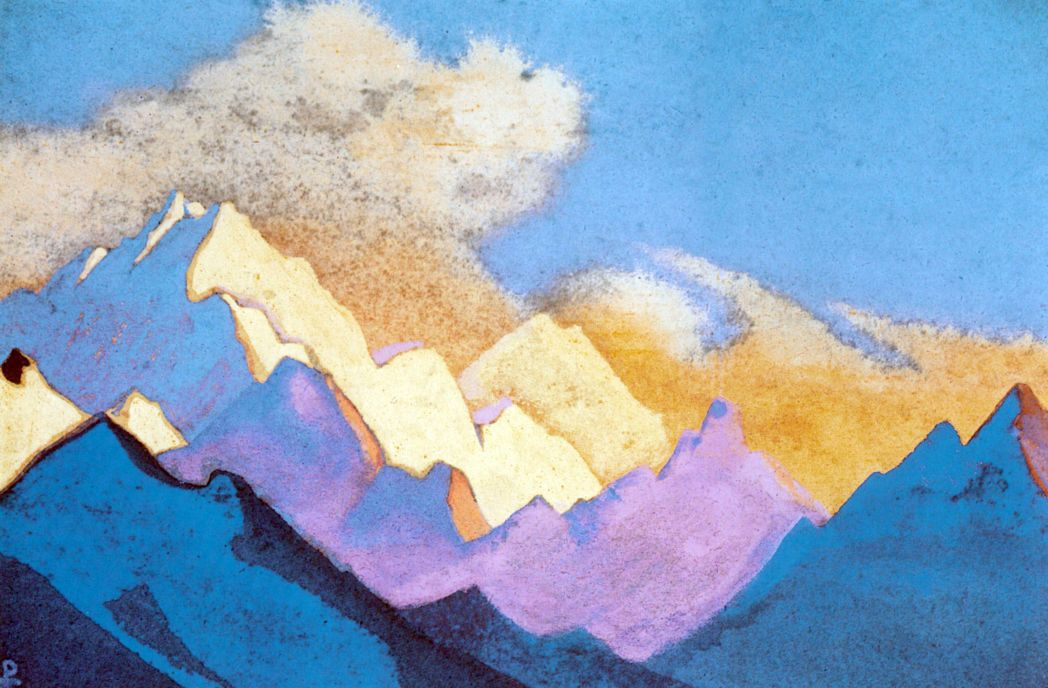 Nicholas Roerich. The Himalayas. Carpeted with snow
