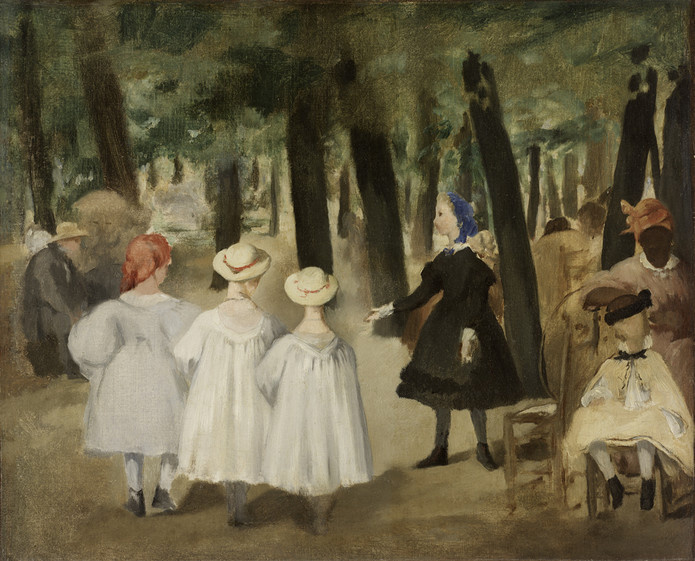 Edouard Manet. Children in the Tuileries gardens