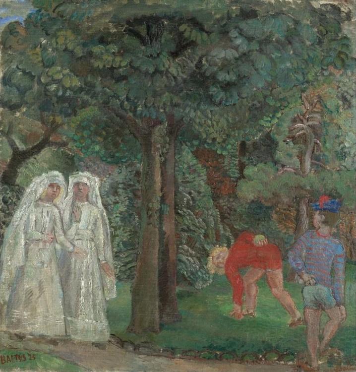 Balthus (Balthasar Klossovsky de Rola). Strolling in the Luxembourg Garden
