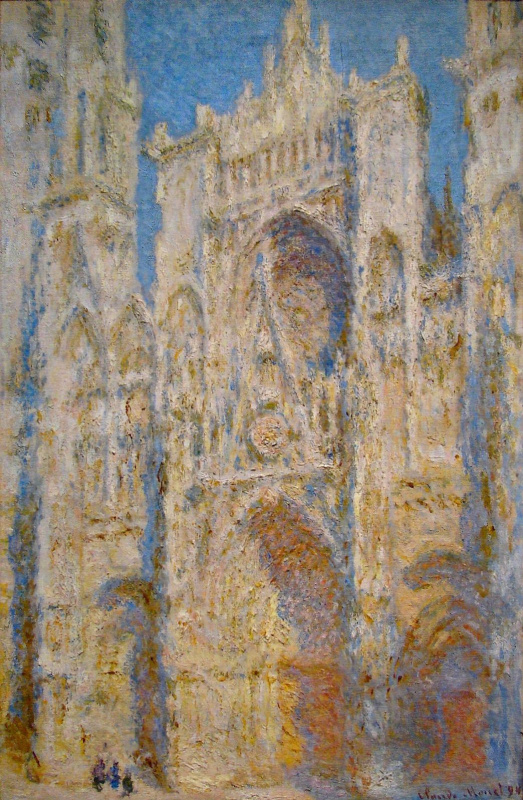 Claude Monet. Rouen Cathedral, West facade, sunlight