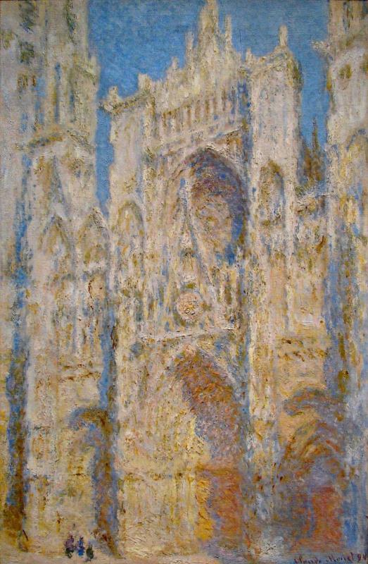 Claude Monet. Rouen Cathedral, West facade, sunlight