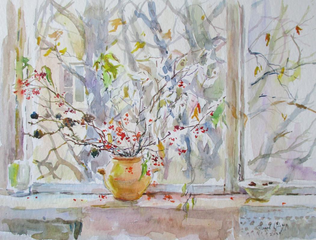 Fedor Dmitrievich Usachev. Falling autumn at my window.