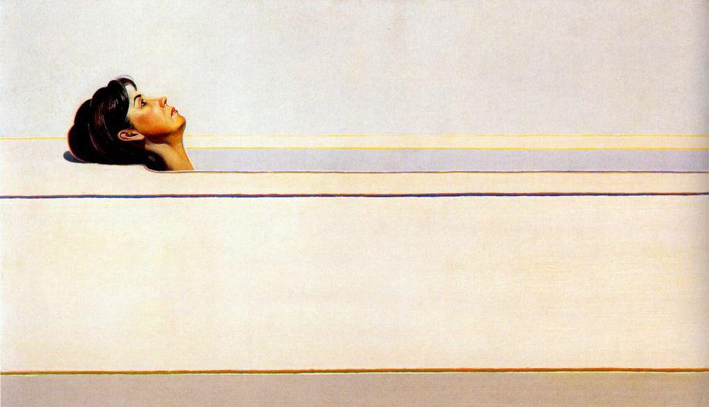 Wayne Thibaut. Woman in the bathtub