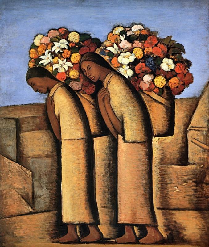 Альфредо Рамос Мартинес. Продавцы цветов