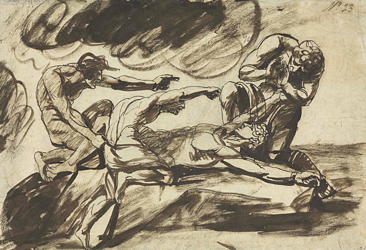 George Romney. Associated Prometheus. Sketch
