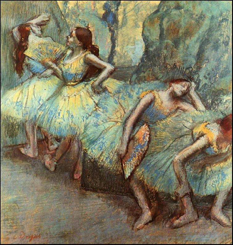 Эдгар Дега. Балет. Танцоры в крыльях
