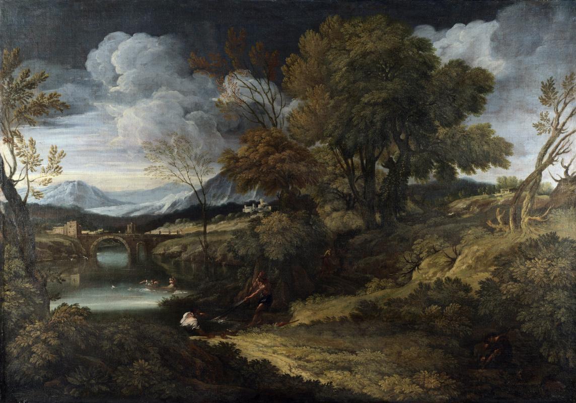 Онофри Крескензио. Пейзаж с рыбаками