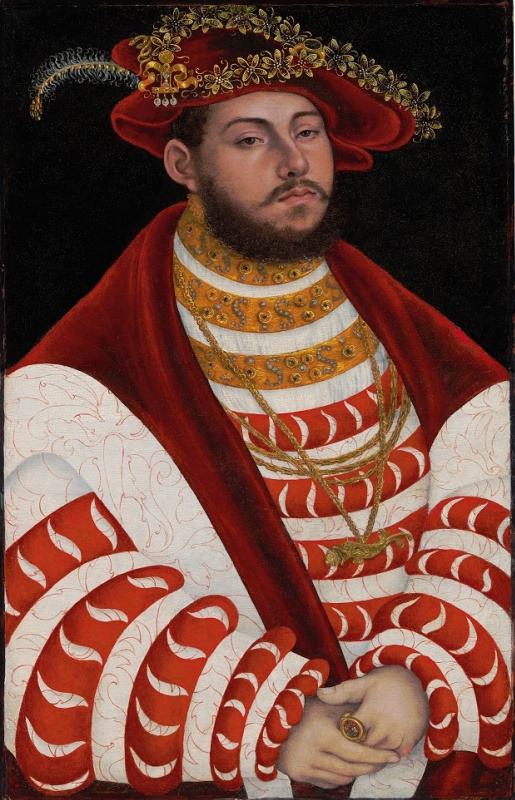 Lucas Cranach the Elder. Portrait of John Frederick I, Elector of Saxony