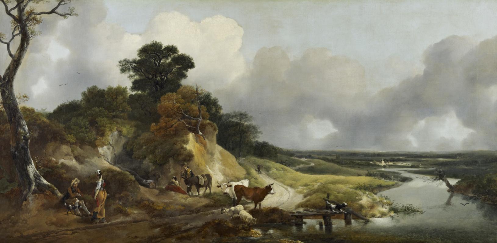 Thomas Gainsborough. Landscape near the village of Cornard