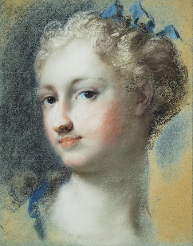 Розальба Каррьера (Каррера). Голова блондинки