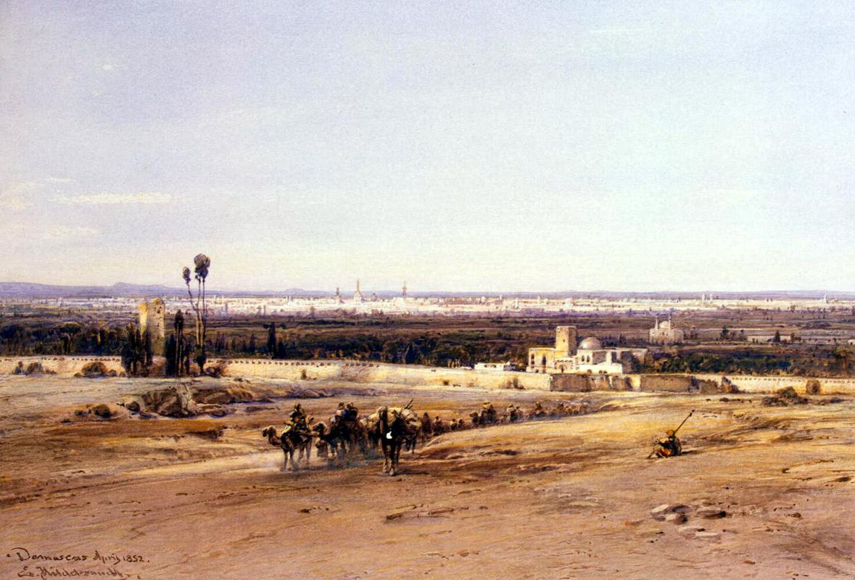 Эдуард Хильдебрандт. Вид Дамаска