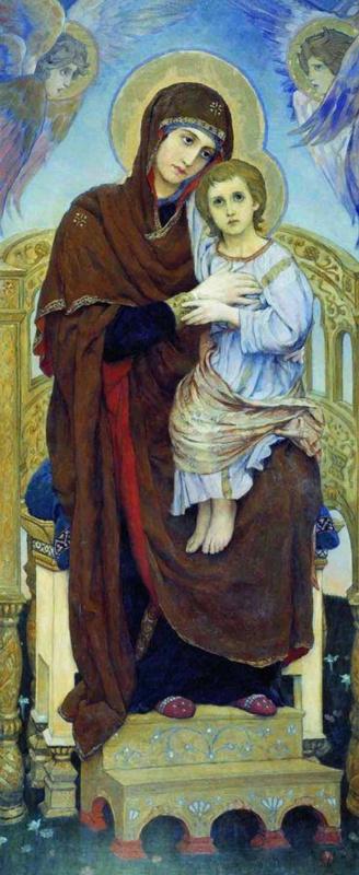 Viktor Mikhailovich Vasnetsov. The virgin and child