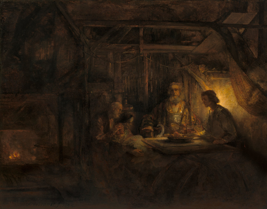 Rembrandt Harmenszoon van Rijn. Philemon and Baucis