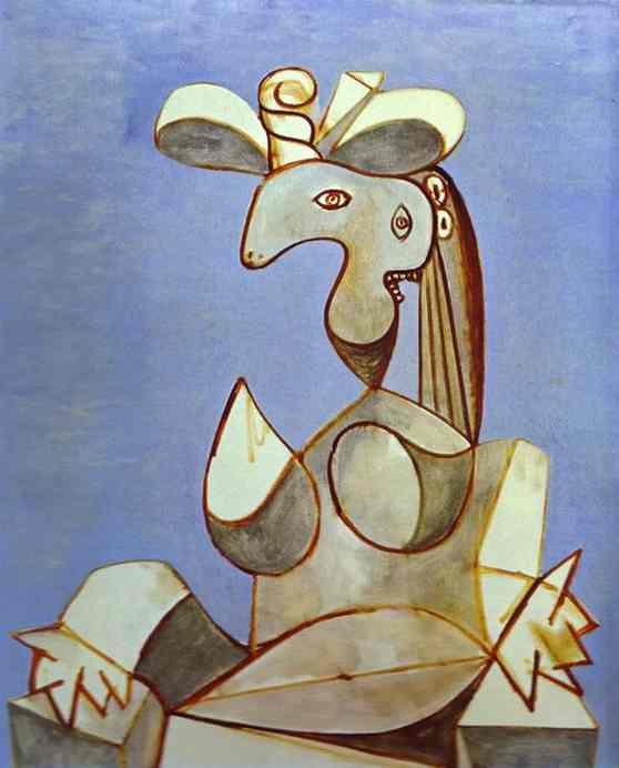 Пабло Пикассо. Сидящая женщина в шляпе 2