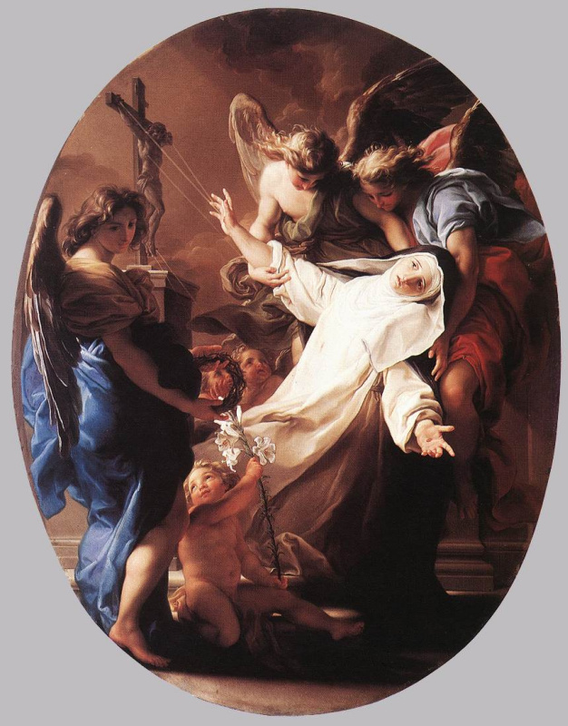 Pompeo Girolamo Batoni. The ecstasy of Saint Catherine of Siena