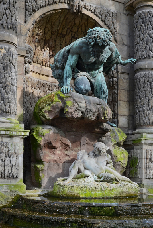 Ottin Auguste. Polifem, AKID and Galatea (La Fontaine médicis in Paris)
