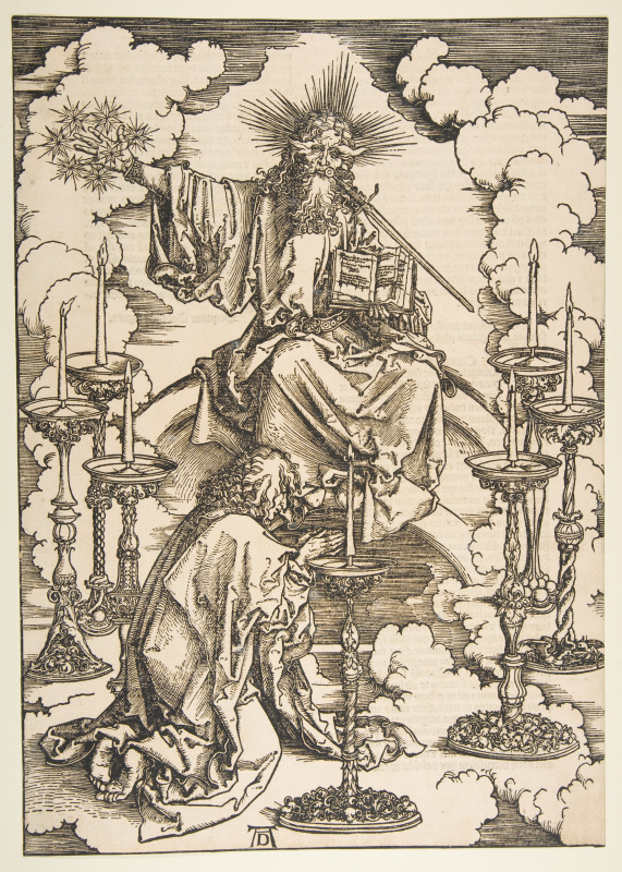 Albrecht Durer. A vision by Saint John the seven lamps