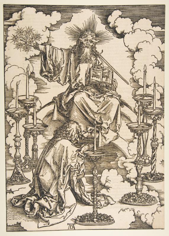 Альбрехт Дюрер. Видение Святым Иоанном семи светильников