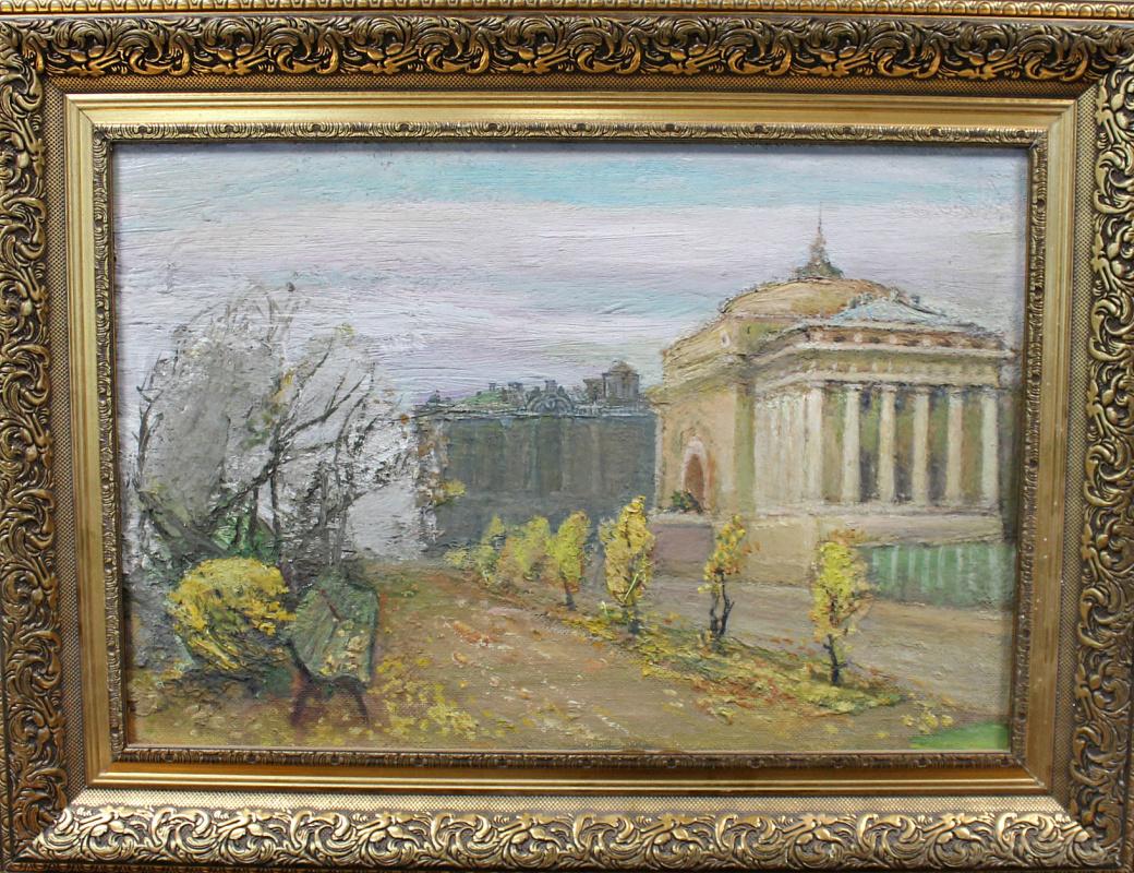 Mikhail Osipovich Poniatov. City landscape