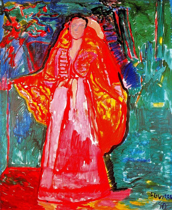 Хуан Антонио Агирре. Женщина в красном