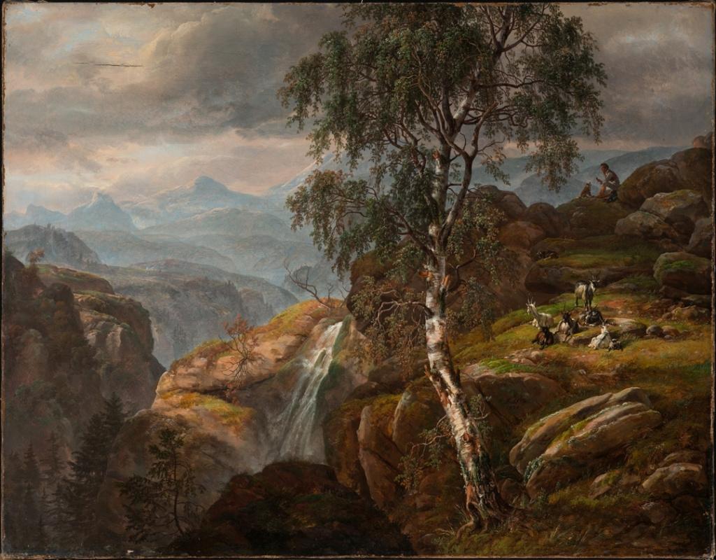 Johan Christian Klausen Dahl. Горный пейзаж с березой