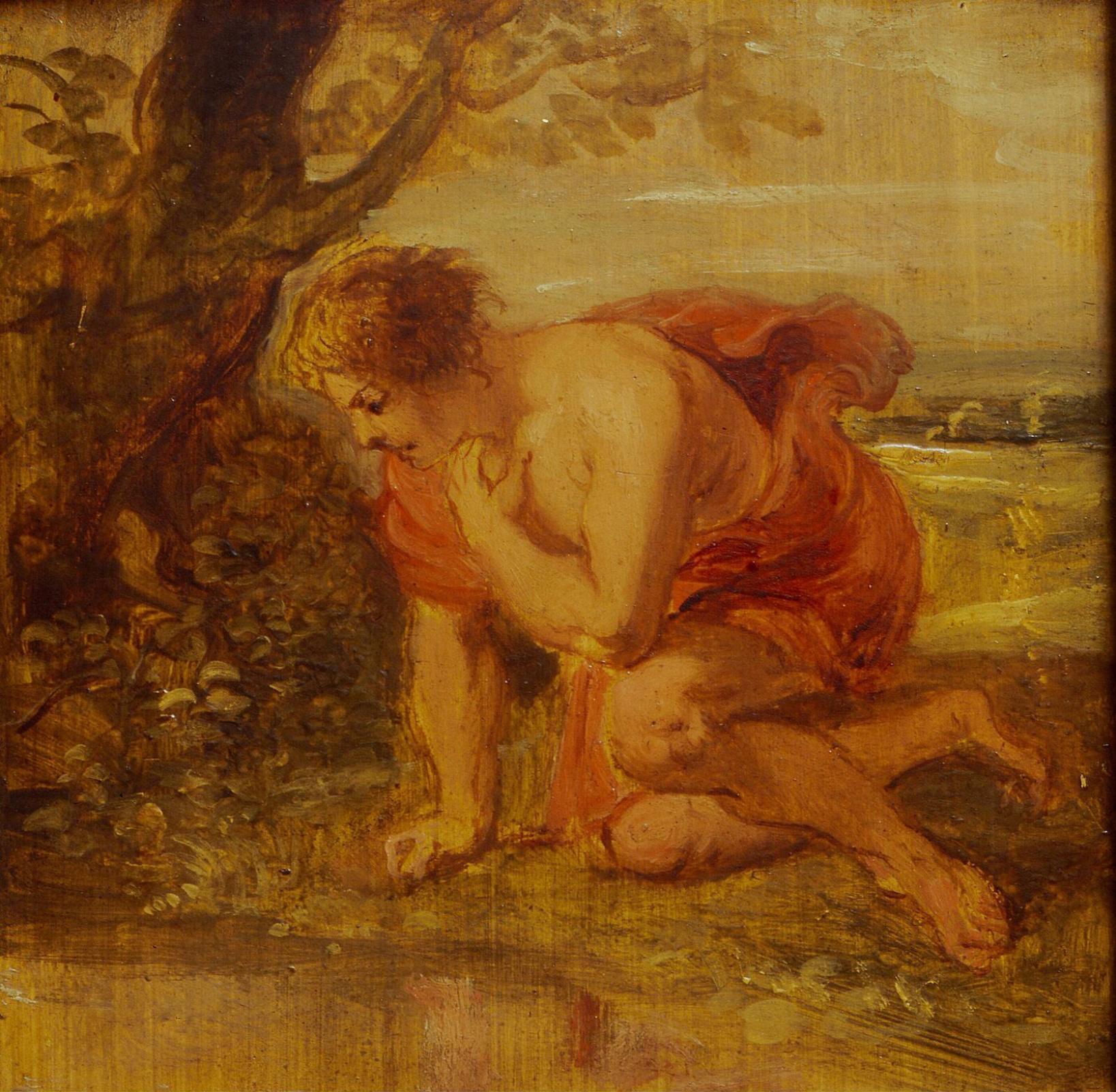 Питер Пауль Рубенс. Нарцисс, влюбленный в собственное отражение. Эскиз