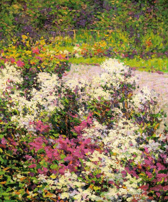Хью Генри Брекенридж. Цветы в саду