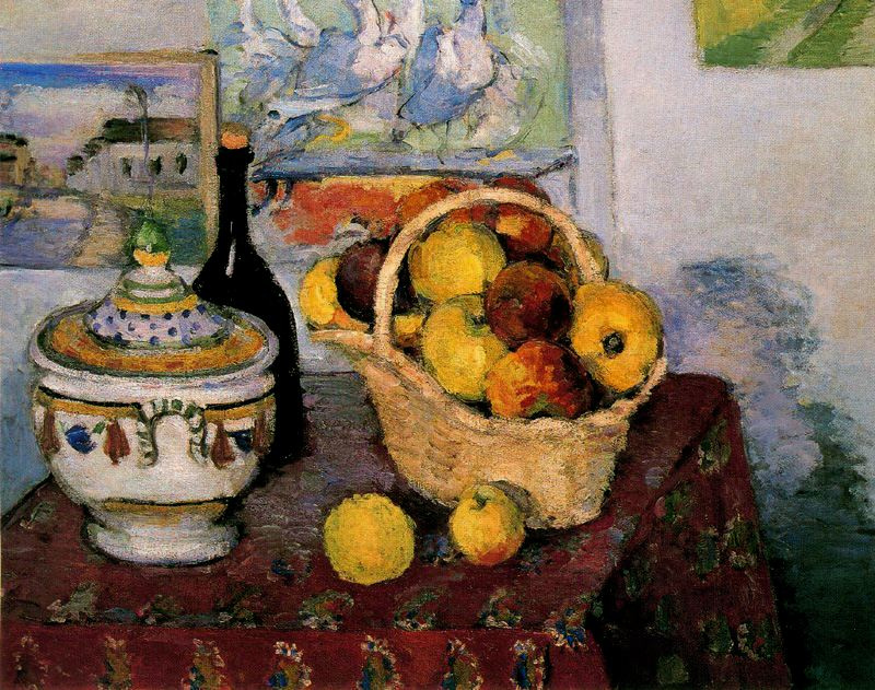 Paul Cezanne. Still life with a bottle