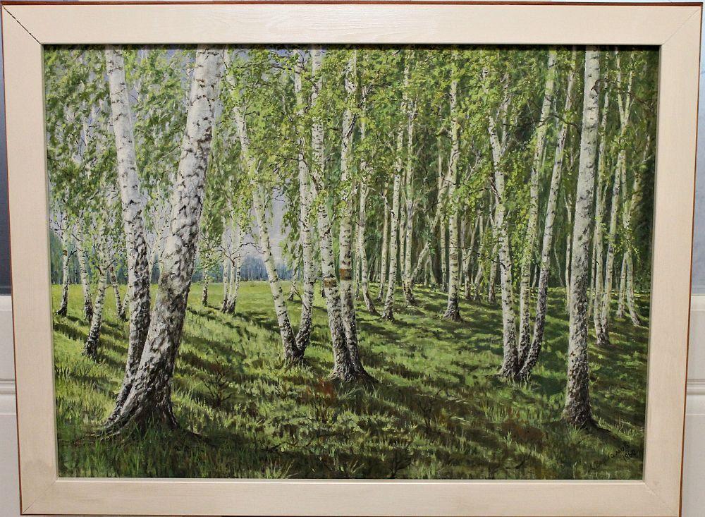 "Alexey Grigorievich Varlamov. ""Birch Grove"" and ""Pines"""