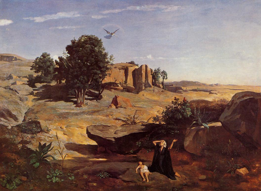Камиль Коро. Агарь в пустыне