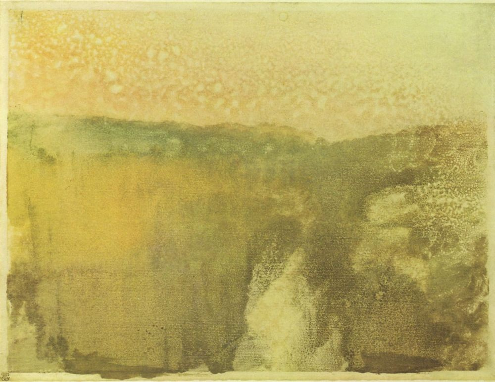 Эдгар Дега. Зеленый пейзаж