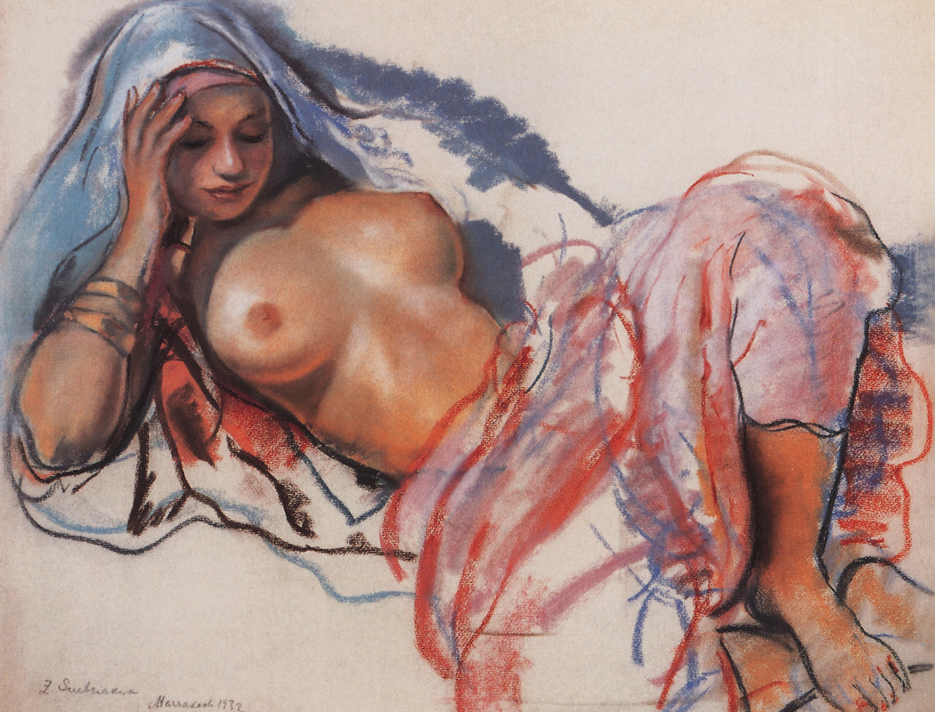 Zinaida Serebriakova. Reclining Moroccan