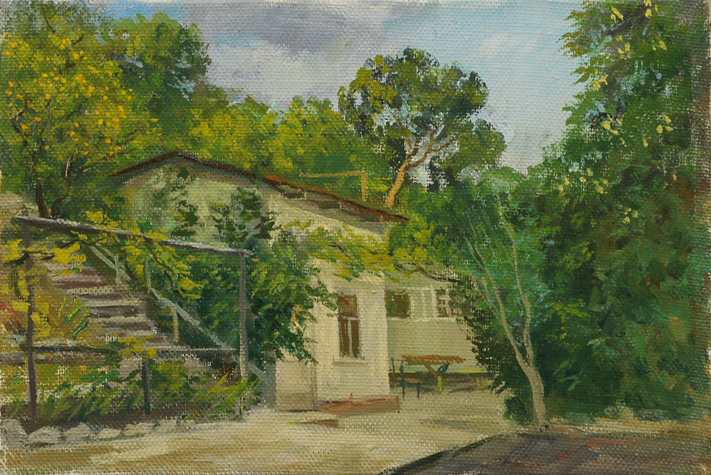 "Сергей Григорьевич Коваль. ""Academic dacha"" in the Crimea Alupka H. M."