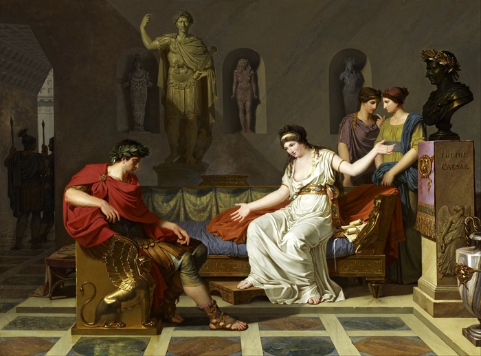 Louis Goffier. Cleopatra and Octavian