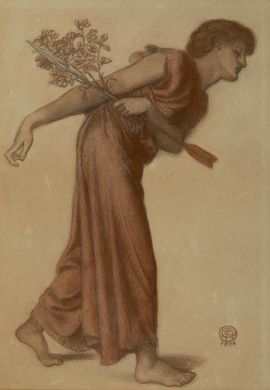 Данте Габриэль Россетти. Эскиз фигуры Любви к картине «Сон Данте в момент смерти Беатриче»
