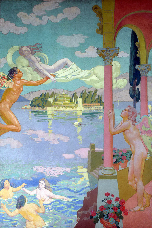 Maurice Denis. Zephyr transporting psyche to the island of Bliss