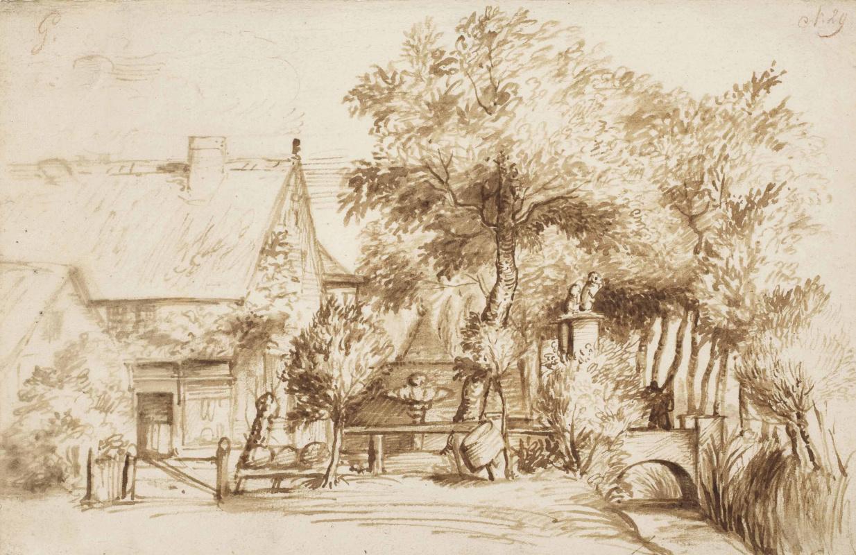 Ян Ливенс. Крестьянский дом у ручья