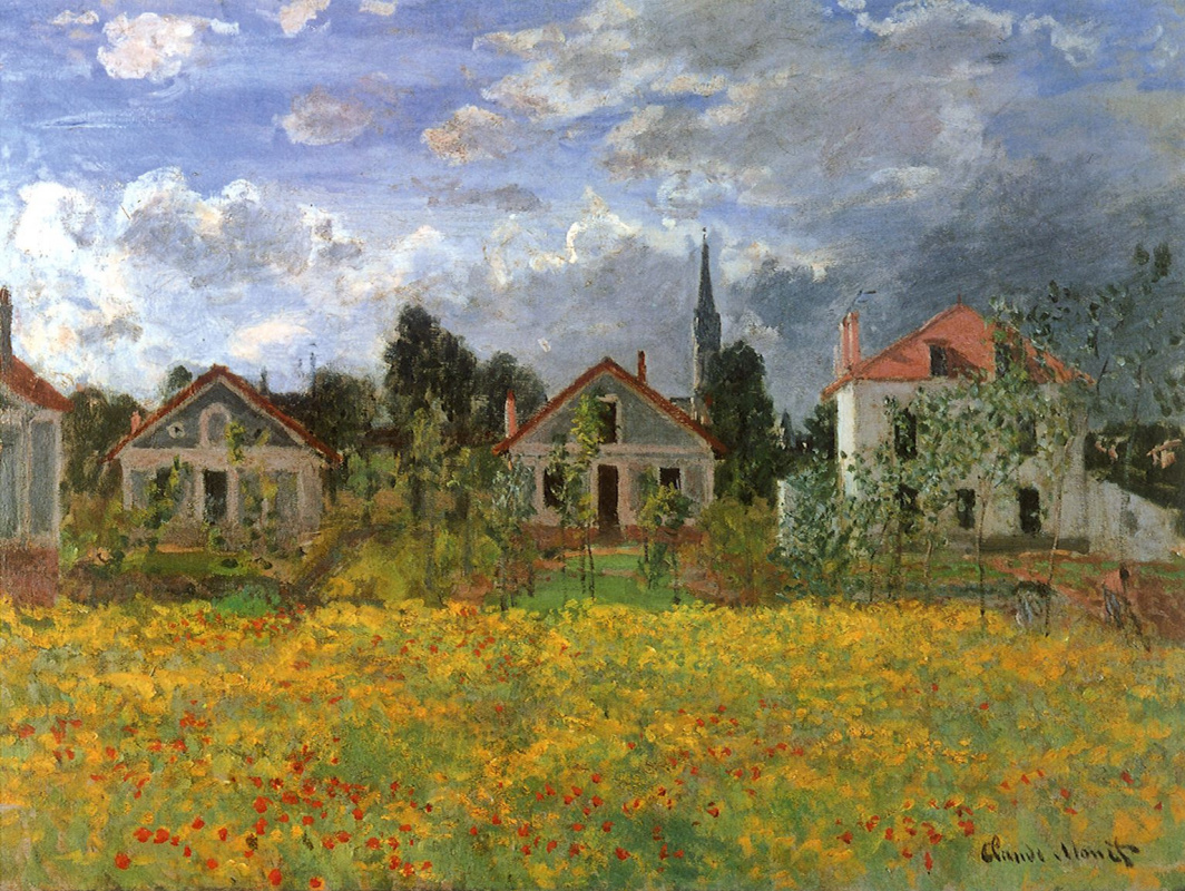 Claude Monet. The house in Argenteuil