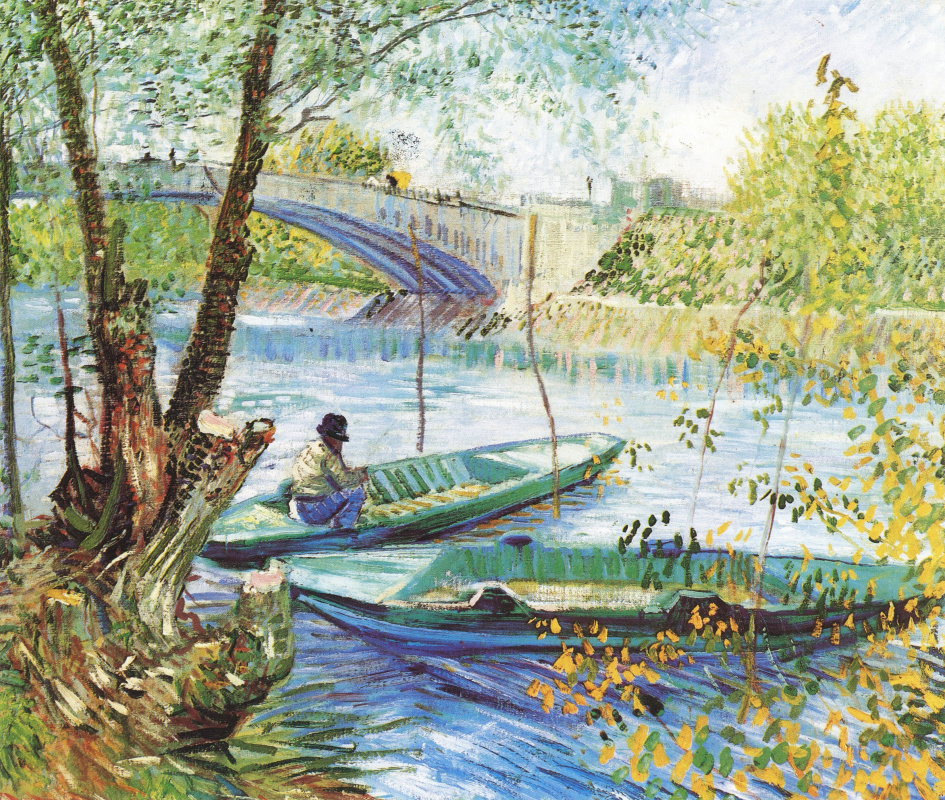 Винсент Ван Гог. Весенняя рыбалка у моста Клиши