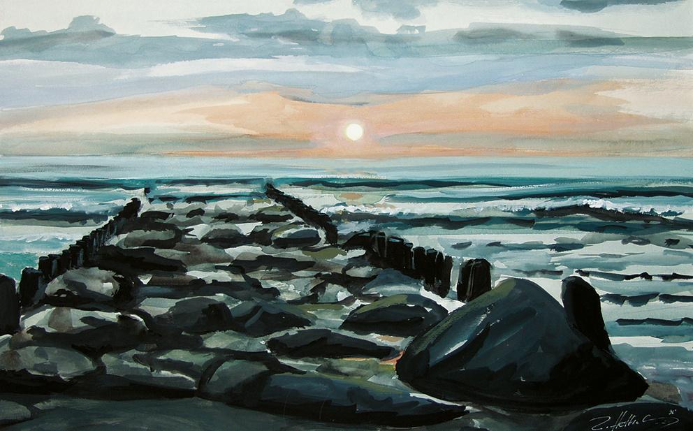 Robert Hettich. Baltic breakwater